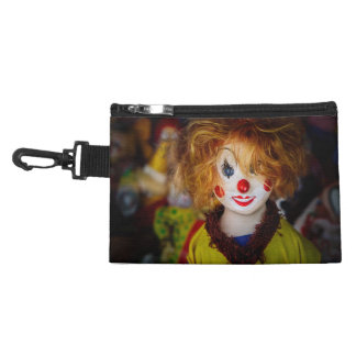 The smile on a clown toy accessory bag