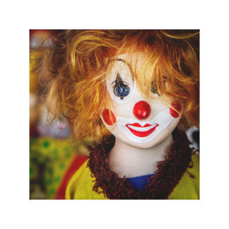 The smile on a clown toy canvas print