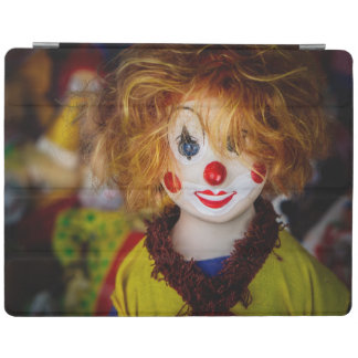 The smile on a clown toy iPad smart cover