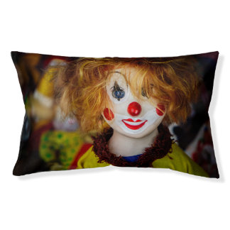The smile on a clown toy pet bed