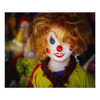 The smile on a clown toy photo print