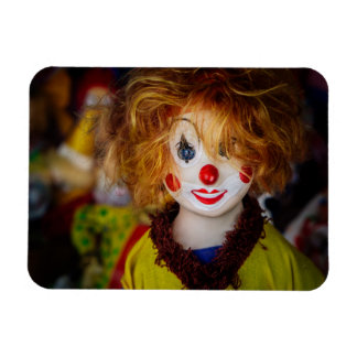 The smile on a clown toy rectangular photo magnet
