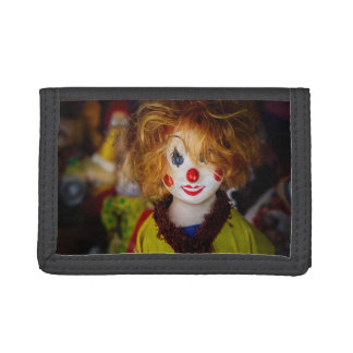 The smile on a clown toy trifold wallet