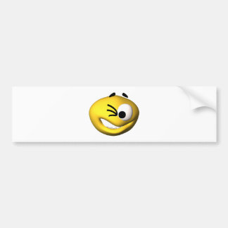 The smiley face store bring you a winking smiley bumper sticker