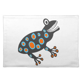 The Smileys funky colourful frog Place Mat