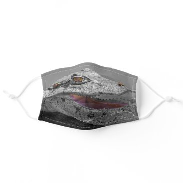 The smiling crocodile and the flies - Costa Rica Cloth Face Mask