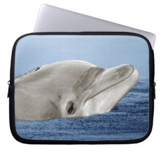 The smiling dolphin laptop sleeve