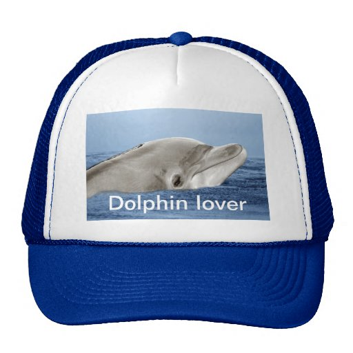 The smiling dolphin mesh hat