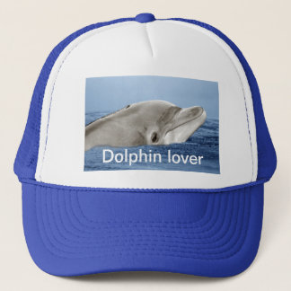 The smiling dolphin trucker hat
