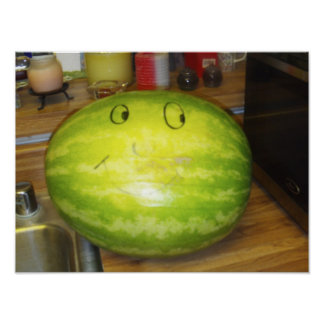 The Smiling Watermelon Print
