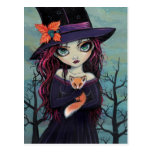 The Smirking Fox Witch and Red Fox Postcard
