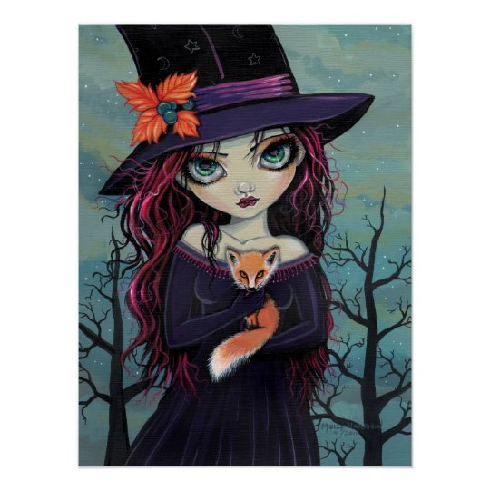 The Smirking Fox Witch and Red Fox Poster
