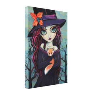 The Smirking Fox Witch Canvas Print