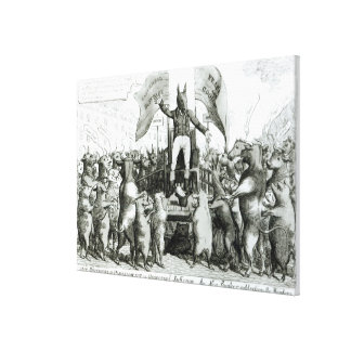 The Smithfield Parliament: Universal Suffrage Gallery Wrap Canvas