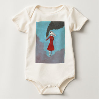 The Smoke Gothic girl Baby Bodysuit