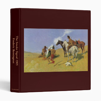 The Smoke Signal by Frederic Remington 3 Ring Binder