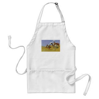 The Smoke Signal by Frederic Remington Adult Apron