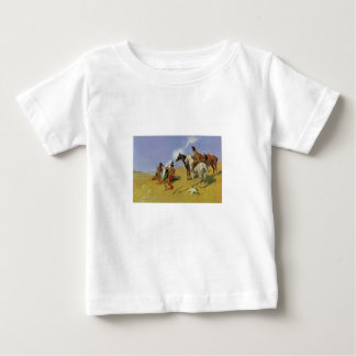 The Smoke Signal by Frederic Remington Infant T-shirt