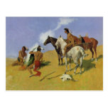 The Smoke Signal by Frederic Remington Postcards