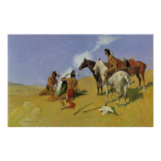 The Smoke Signal by Frederic Remington Poster