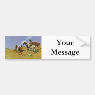 The Smoke Signal ~ Frederic Remington Bumper Sticker