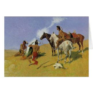 The Smoke Signal ~ Frederic Remington Card