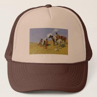 The Smoke Signal ~ Frederic Remington Trucker Hat