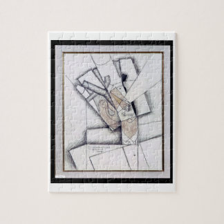 The Smoker, 1912 (charcoal & red chalk on paper) Jigsaw Puzzle
