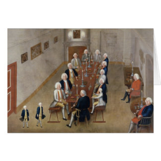 The smoking council of Frederick William I Card