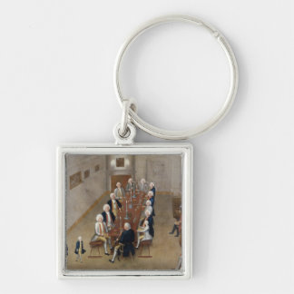 The smoking council of Frederick William I Keychain