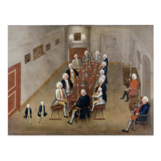 The smoking council of Frederick William I Postcard