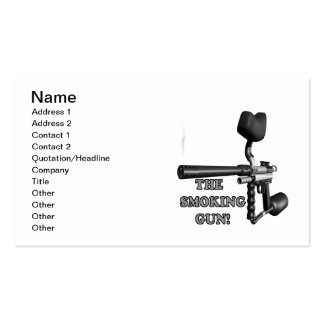 The Smoking Gun Double-Sided Standard Business Cards (Pack Of 100)