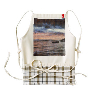 The smoldering ocean zazzle HEART apron