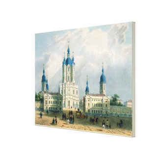 The Smolny Cloister in St. Petersburg Gallery Wrap Canvas