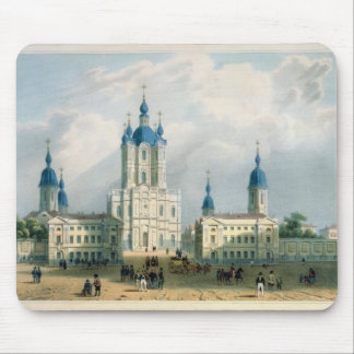 The Smolny Cloister in St. Petersburg Mouse Pad