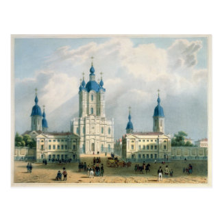 The Smolny Cloister in St. Petersburg Postcard