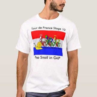 The Snail in GAP - Tour de France T-Shirt