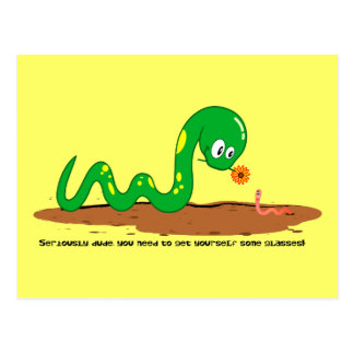 The Snake and the worm Postcard