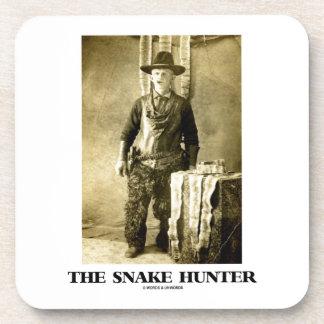 The Snake Hunter (Vintage Photo Snake Skins) Beverage Coaster
