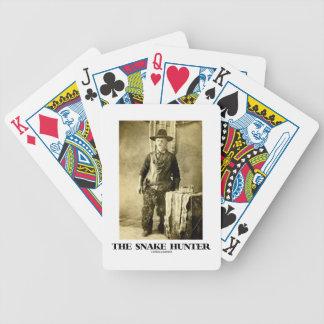 The Snake Hunter (Vintage Photo Snake Skins) Bicycle Playing Cards