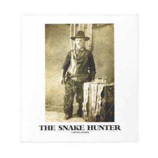 The Snake Hunter (Vintage Photo Snake Skins) Note Pad