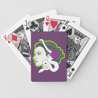 The Snake Lady Playing Cards
