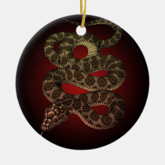The snake (R) Ceramic Ornament