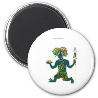 The Snake Shaman, hero,  monster 2 Inch Round Magnet