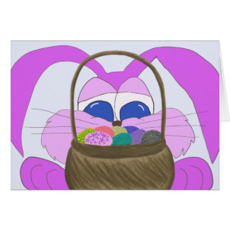 The Sneaky Fuchsia Bunny.. Easter Card