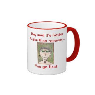 The Snooty Sisters Design Ringer Mug