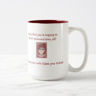 The Snooty Sisters Design Two-Tone Coffee Mug