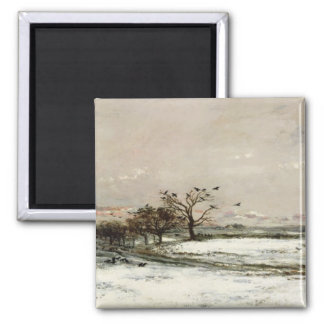 The Snow, 1873 2 Inch Square Magnet