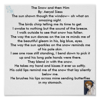 The Snow and then Him By Aeryal Siess Poster