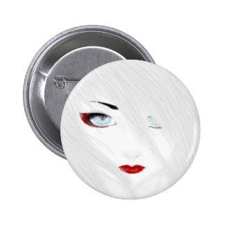 The Snow Geisha 2 Inch Round Button